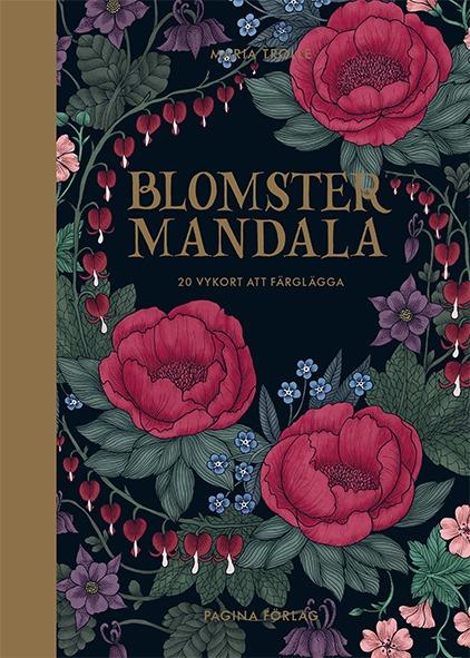 Blomster Mandala 20 vykort att färglägga