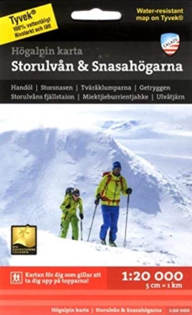 Image for Storulvån & Snasahögarna 1:20 000 from Suomalainen.com